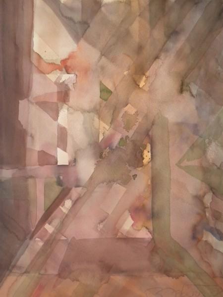 Rauch und Statik (2011) Aquarell auf Büttenpapier 36 cm x 48 cm