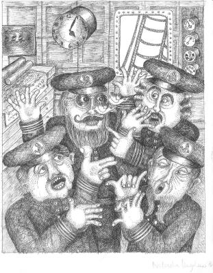 Die vier Kapitäne stritten sich im Kartenhaus